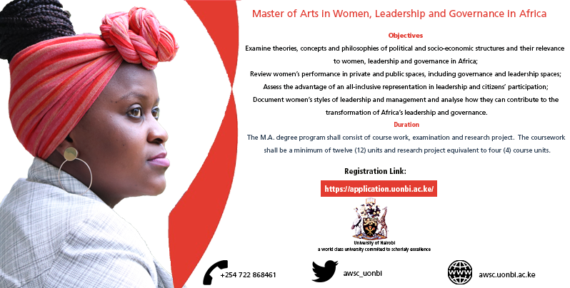Master of Arts in Women, Leadership and Governance in Africa