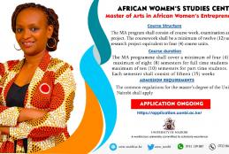 Master of Arts in African Women's Entrepreneurship (M12)